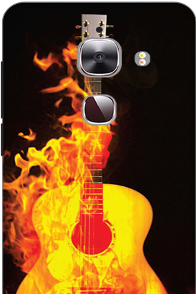3D - Le Max 2 Fired Guitar Mobile Cover
