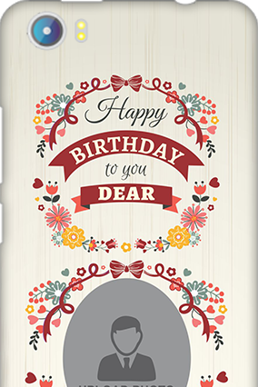 Silicon - Micromax Canvas Fire 4 A107 Happy Birthday Dear Mobile Cover