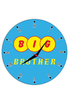 Big Brother Wall Clock Circle Without Border