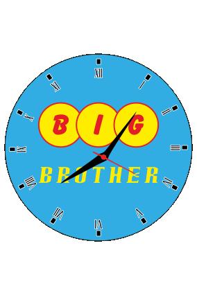Big Brother Wall Clock Circle Without Border