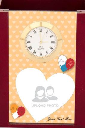 Heart Love Desk Stand with Clock