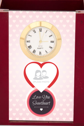 Romantic Desk Stand with Clock