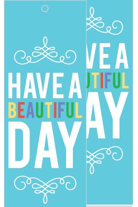Beautiful Day Bookmark
