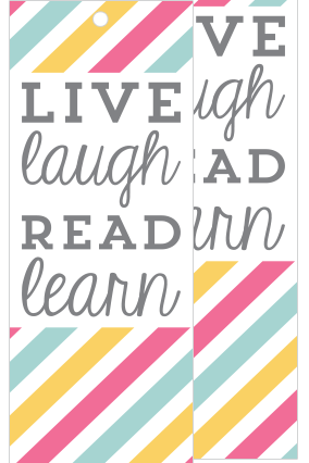 Live & Laugh Bookmark