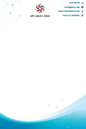 Blue Color Letterhead