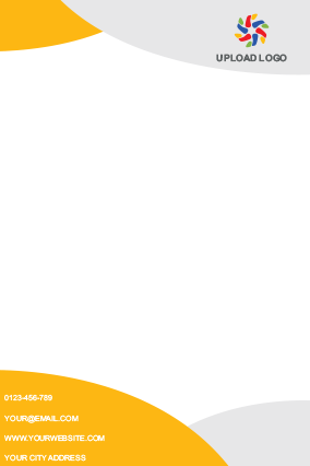 Yellow Color Letterhead