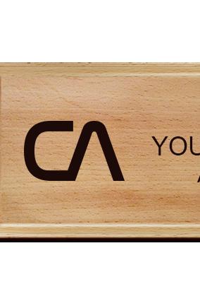 CA Pine Wood Nameplate