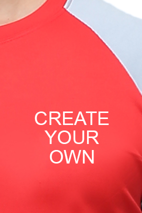 Effit Create Your Own Red Grey T-Shirt