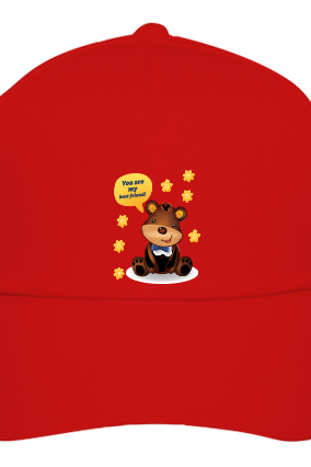 Custom Teddy Cool Red Cap