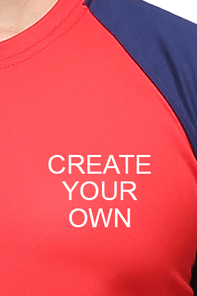 Effit Create Your Own  Red and Navy T-Shirt