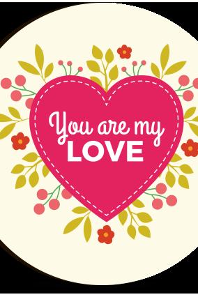 My Love Round MDF Photo Magnet