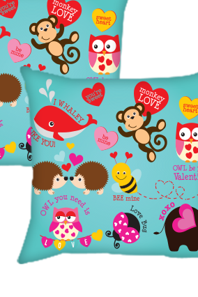 Blued Cushion Cover