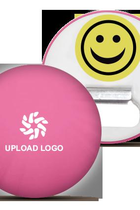 Pink Color Logo Magnet