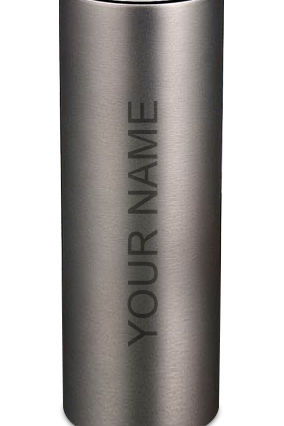 Customized Metallic Gray 600ml Flask H-100