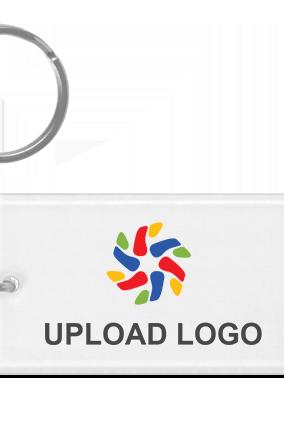Designer Upload Logo Acrylic Rectangle Key Ring