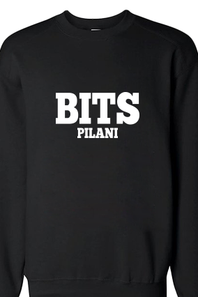 BITS White Customize Print Black Sweatshirt