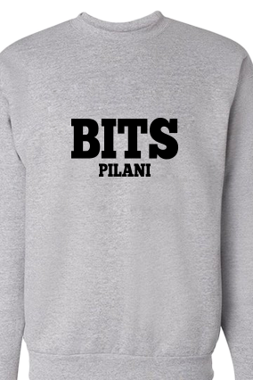BITS Black Printed Gray Sweatshirt