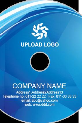 Blue Stripes Upload Logo DVD