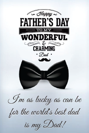 Wonderful Father's Day Greeting Card