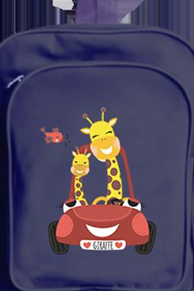 Riding Giraffes School Bag