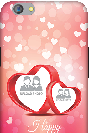Silicon - OPPO F1s Floral Hearts Anniversary Mobile Cover