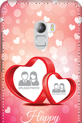 3D - Lenovo K4 Note Floral Hearts Anniversary Mobile Cover