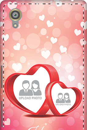 3D - Sony Xperia X Floral Hearts Anniversary Mobile Cover