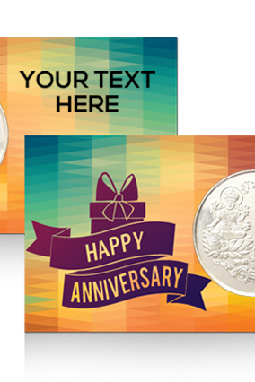 Customized Happy Anniversary Silver Coin