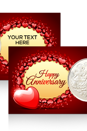 Anniversary Wishes Personalized Silver Coin