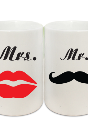 Minimalistic Couple Coffee Mugs