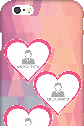 Apple I Phone 6 Pinkish Photos Heart Mobile Cover