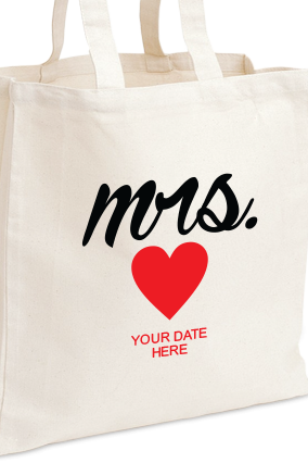 Customized Mrs Tote Bag