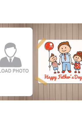 Brown Colored Father's Day Landscape Canvas Print