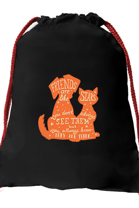 Friends Black Gym Sack Bag