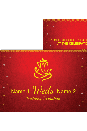 Dark Color Wedding Invitation Card