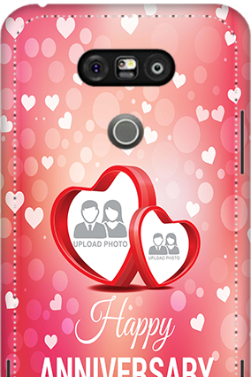 3D - LG G5 Floral Hearts Anniversary Mobile Cover