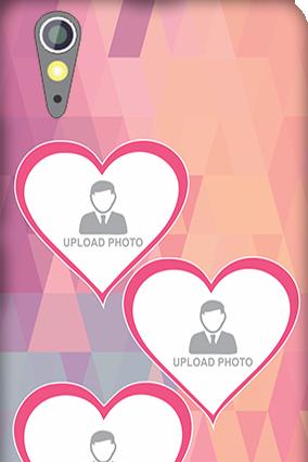 Lenovo A6000 Pinkish Photos Heart Mobile Cover