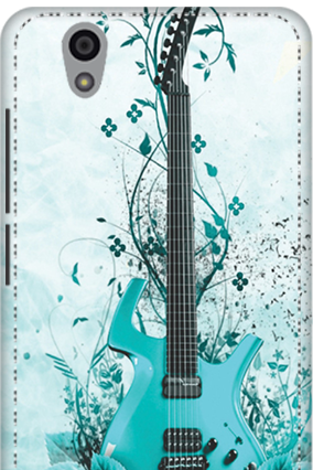 3D - Gionee F103 Blue Guitar Mobile Cover