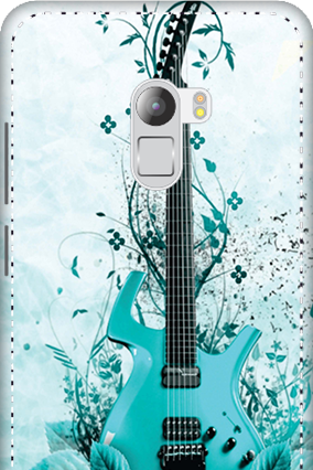 3D - Lenovo K4 Note Blue Guitar Mobile Cover