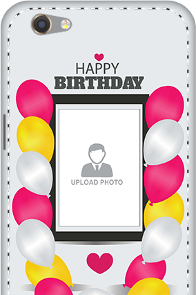 3D - Oppo F3 Birthday Greetings Mobile Cover