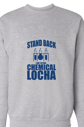 Chemical Locha Blue Print Gray Sweatshirt