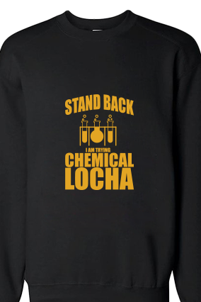 Chemical Locha Yellow  Print Black Sweatshirt