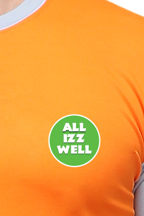 Effit All Is Well Orange and Grey T-Shirt