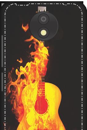 3D - Motorola Moto C Plus Fired Guitar Mobile Cover