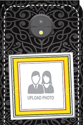 3D -  Motorola Moto C Black Designer Mobile cover