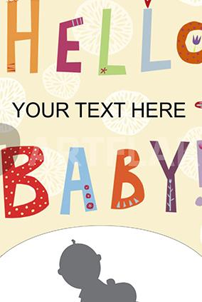 Hey Baby Shower Poster