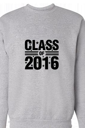 Class 2016 Black Print Gray Sweatshirt
