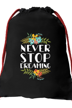 Dream High Black Gym Sack Bag