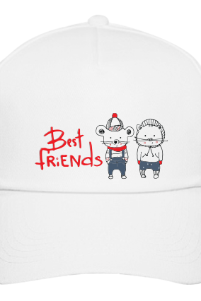 Best Friends White Cap