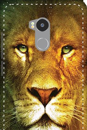 3D - Redmi 4 Prime Lion Face Mobile Cover